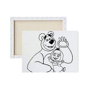 Tela para pintura infantil - Marsha e o Urso