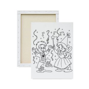 Tela para pintura infantil - Menino e Menina Fantasiados