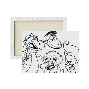 Tela para pintura infantil - Mundo de Bita e Amigos