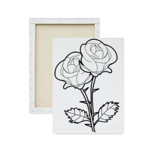Tela Para Pintura Infantil - Rosa Dupla