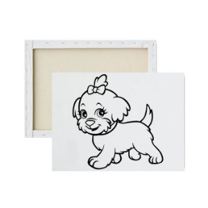 Tela Para Pintura Infantil - Puppy