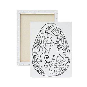Tela para pintura infantil - Ovo de Páscoa Decorado