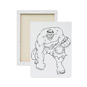 Tela Para Pintura Infantil - Hulk indo à luta