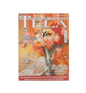 Revista - Pintura em Tela, Flores Tridimensionais