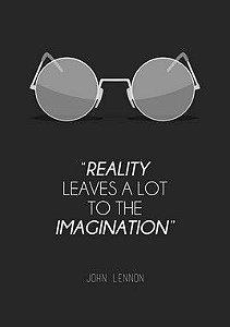 Quadro Decorativo Frases John Lennon