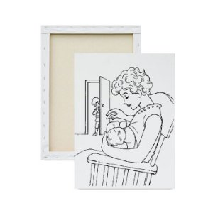 Tela para pintura infantil - Amamentação