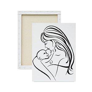 Tela para pintura infantil - Mamãe e seu Bebê