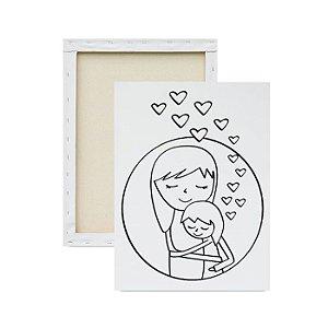 Tela para pintura infantil - Mamãe é Amor
