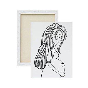 Tela para pintura infantil - Mamãe Grávida