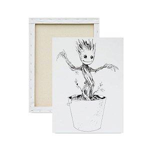 Tela Para Pintura Infantil - Groot Crescendo