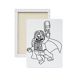 Tela Para Pintura Infantil - Thor Lego