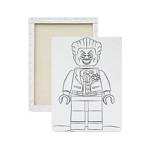 Tela Para Pintura Infantil - Coringa Lego