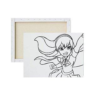 Tela Para Pintura Infantil - Super Girl