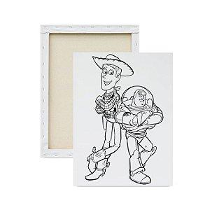 Tela Para Pintura Infantil - Woody e Buzz Lightyear