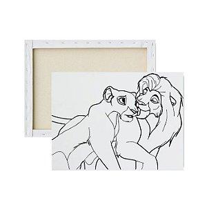 Tela para pintura infantil - Mufasa e Sarabi