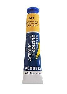 Tinta Acrilica Acrilex 20ml 342 - Amarelo Napoles