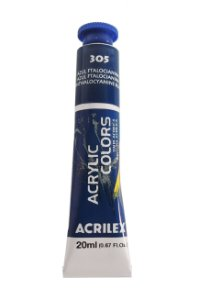 Tinta Acrilica Acrilex 20ml 305 - Azul Ftalocianina