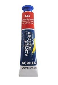 Tinta Acrilica Acrilex 20ml 344 - Vermelho de Cadmio Escuro