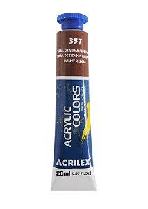 Tinta Acrilica Acrilex 20ml 357 - Terra de Siena Queimada