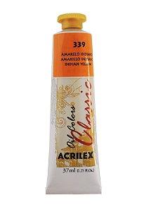 Tinta Oleo Acrilex 37ml 339 - Amarelo Indiano