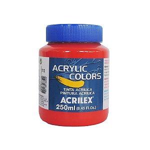Tinta Acrilica Acrilex 250ml Grupo 2 312 - Vermelho de Cadmio