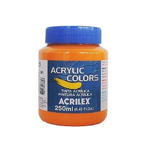 Tinta Acrilica Acrilex 250ml Grupo 2 341 - Amarelo de Cadmio Escuro