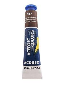 Tinta Acrilica Acrilex 20ml 337 - Marrom Van Dyck