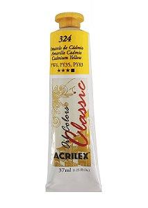 Tinta Oleo Acrilex 37 ml 324 - Amarelo de Cadmio
