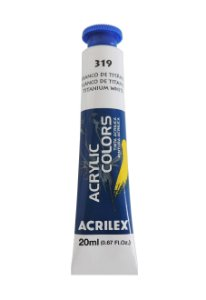 Tinta Acrilica Acrilex 20ml 319 - Branco de Titânio