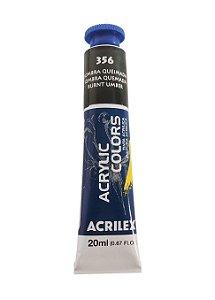 Tinta Acrilica Acrilex 20ml 356 - Sombra Queimada