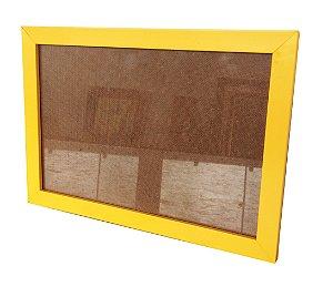 Moldura para Certificado Amarela com Vidro