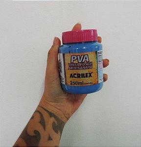 Tinta Fosca para Artesanato Acrilex 250ML - 825 Azul Country