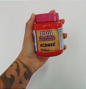Tinta Fosca para Artesanato Acrilex 250ML - 507 Vermelho Fogo