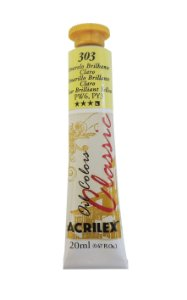 Tinta Oleo Acrilex 20ML 303 - Amarelo Brilhante Claro