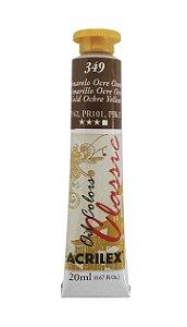 Tinta Oleo Acrilex 20ML 349 - Amarelo Ocre Ouro
