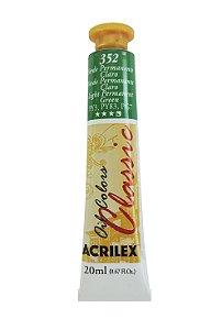 Tinta Oleo Acrilex 20ML 352 - Verde Permanente Claro