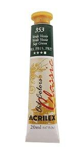 Tinta Oleo Acrilex 20ML 353 - Verde Vessie
