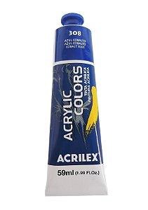 Tinta Acrilica Acrilex 59ml 308 - Azul Cobalto