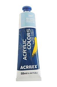 Tinta Acrilica Acrilex 59ml 347 - Azul Cerulio