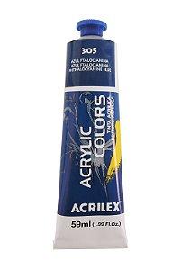 Tinta Acrilica Acrilex 59ml 305 - Azul Ftalocianina