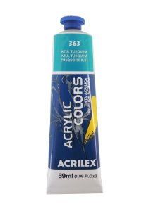 Tinta Acrilica Acrilex 59ml 363 - Azul Turquesa