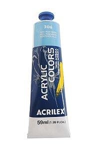 Tinta Acrilica Acrilex 59ml 306 - Azul Hotênsia