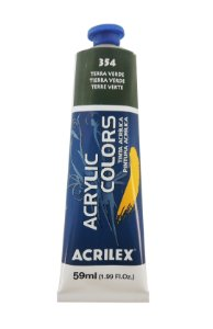 Tinta Acrilica Acrilex 59ml 354 - Terra Verde