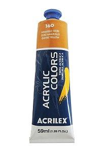 Tinta Acrilica Acrilex 59ml 360 - Amarelo Ocre