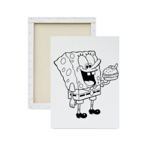 Tela para Pintura Infantil - Bob Esponja