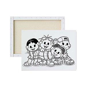 Tela para pintura infantil - Mônica e Turma
