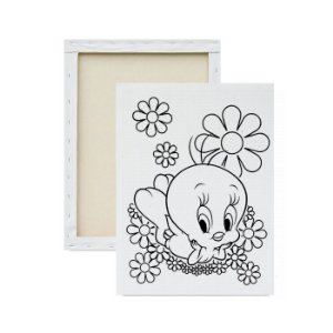 Tela Para Pintura Infantil - Piu-piu Florido