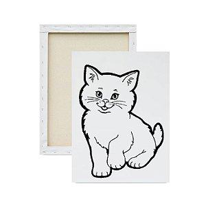 Tela para pintura infantil - Gatinho