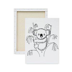 Tela para pintura infantil - Koala na Árvore