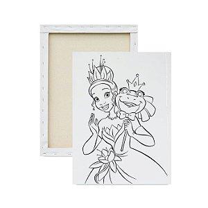 Tela para pintura infantil - A Princesa e o Sapo
